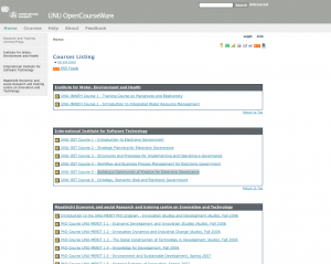 photo of United Nations University's OpenCourseWare!